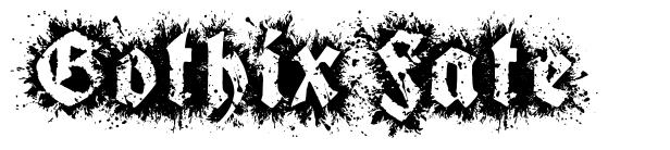 Gothix Fate font