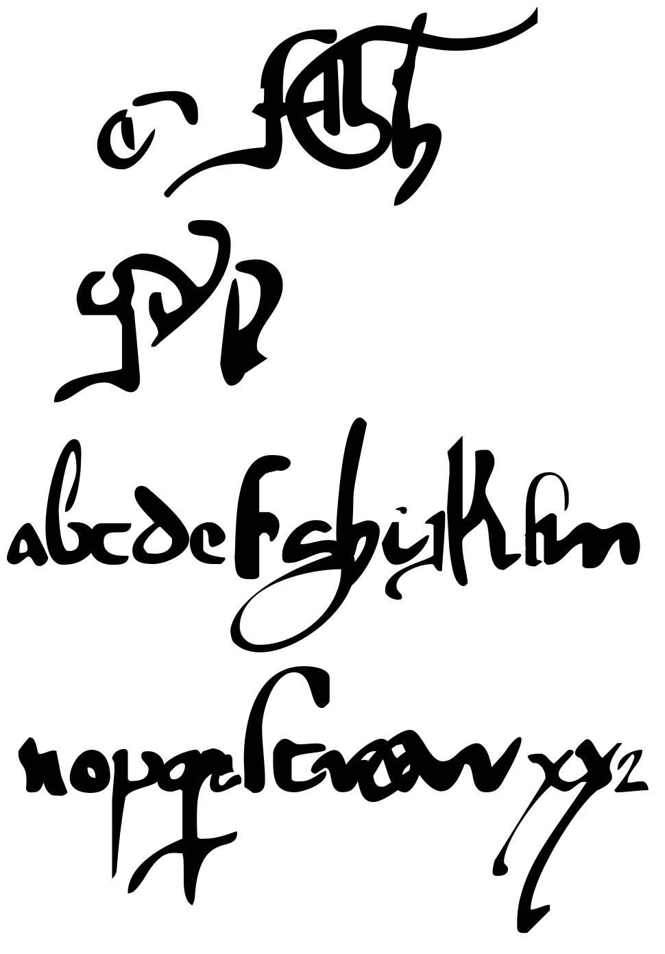 Gotische Minuskel 1269 PW Demo font