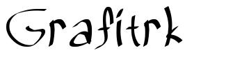 Grafitrk 字形