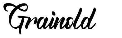Grainold font