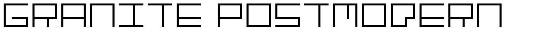 Granite Postmodern font
