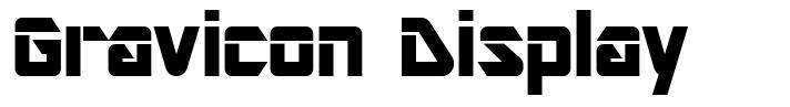 Gravicon Display font