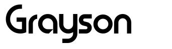 Grayson フォント