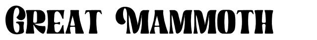 Great Mammoth font