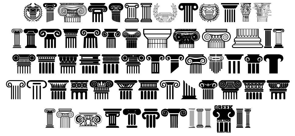 Greek Column フォント
