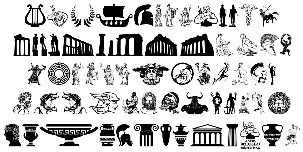 Greek Mythology 字形