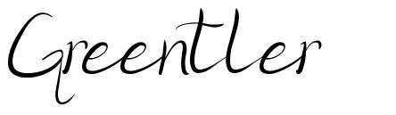 Greentler font