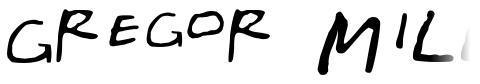 Gregor Miller's Friends Font