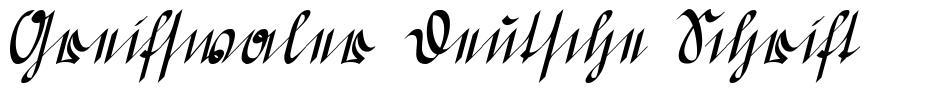 Greifswaler Deutsche Schrift