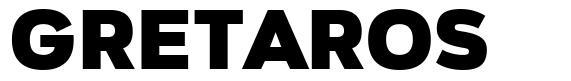 Gretaros шрифт