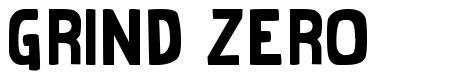 Grind Zero font