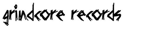 Grindcore Records font