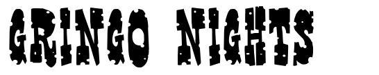 Gringo Nights 字形