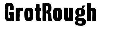 GrotRough font