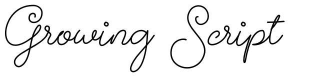 Growing Script フォント