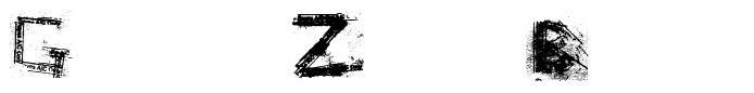 Grunge Zinda Bad písmo