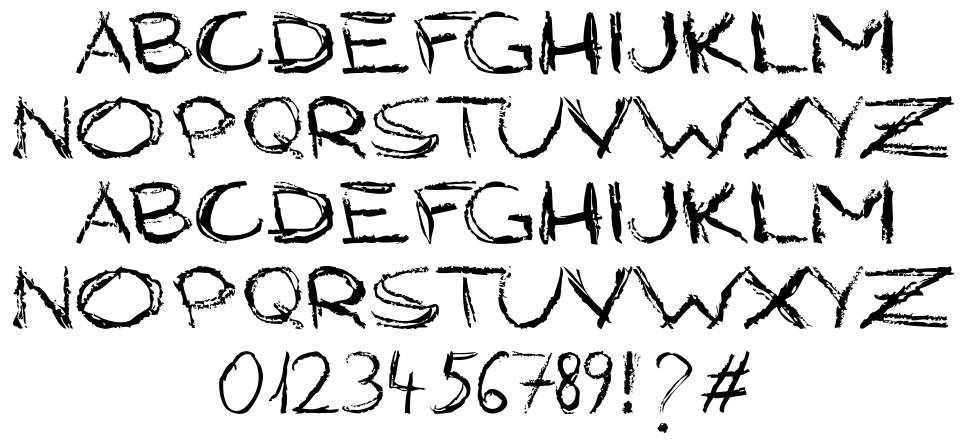 Grungy Style font