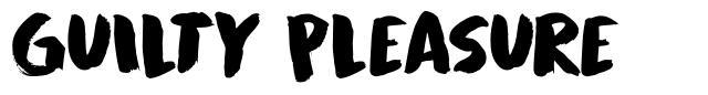 Guilty Pleasure font
