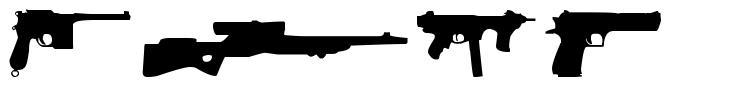 Guns font