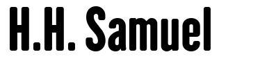 H.H. Samuel font