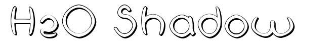 H2O Shadow font