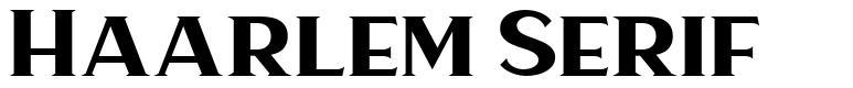 Haarlem Serif шрифт