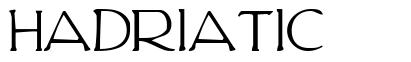 Hadriatic шрифт