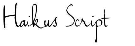 Haikus Script
