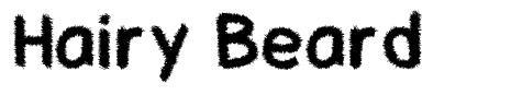 Hairy Beard font