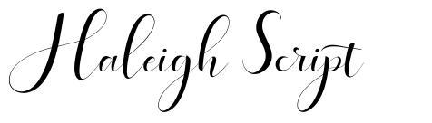 Haleigh Script font