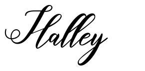 Halley font