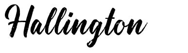 Hallington font