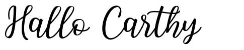 Hallo Carthy