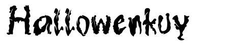 Hallowenkuy font
