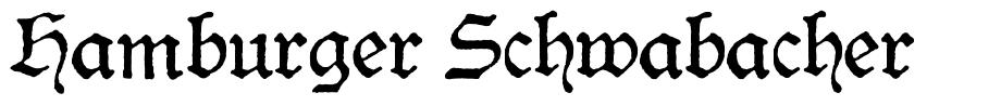 Hamburger Schwabacher font