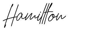 Hamillton font