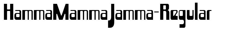 HammaMammaJamma-Regular font