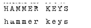 Hammer Keys