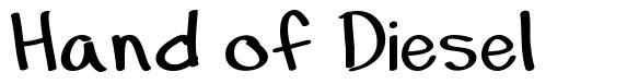Hand of Diesel font