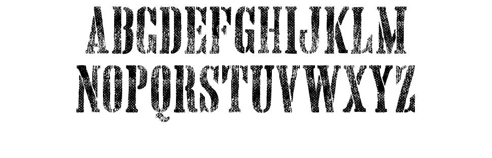 Hand Printing Press Meshed font