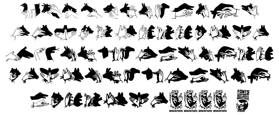 Hand Shadows Icons font