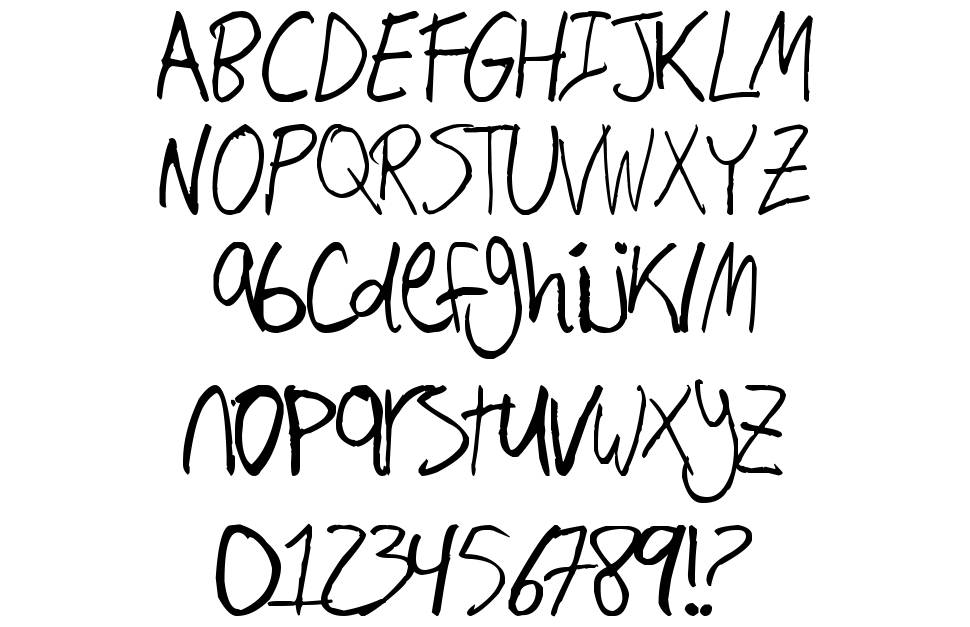 Hand Writing font