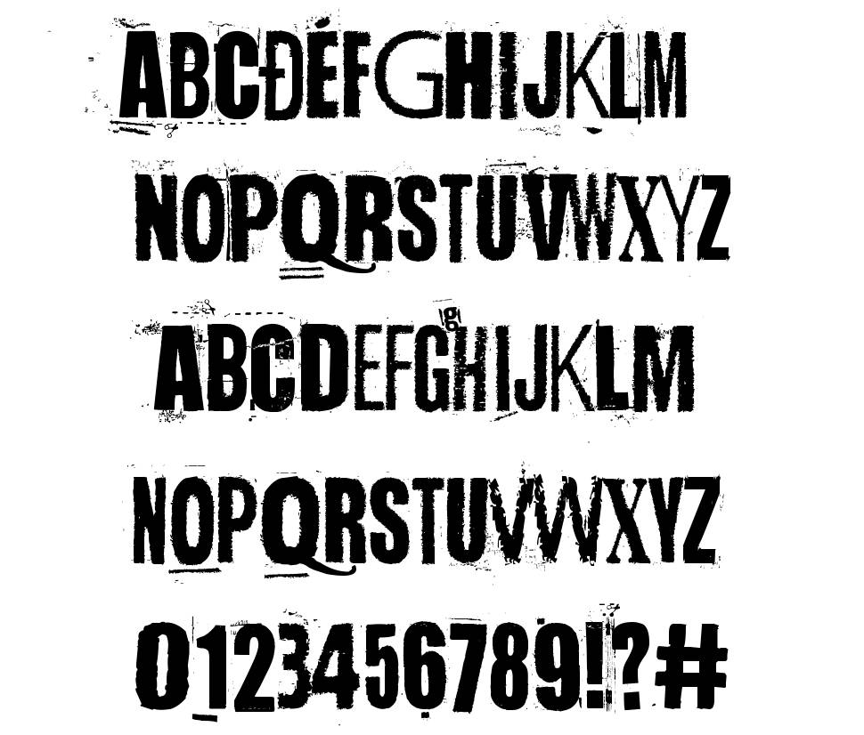 Handful of Nothing font