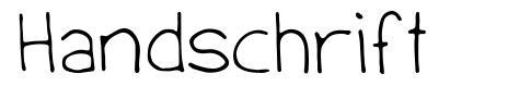 Handschrift font