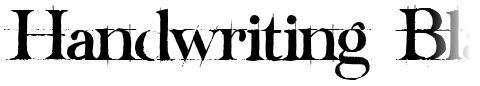 Handwriting Black Draft