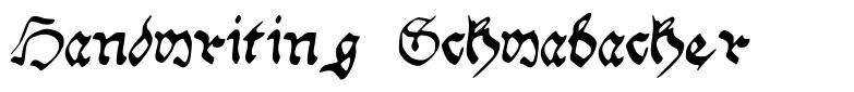 Handwriting Schwabacher フォント