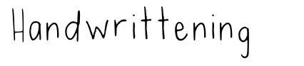 Handwrittening font