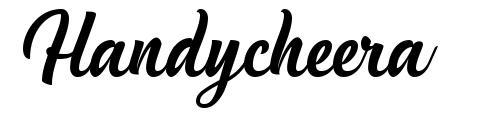 Handycheera font