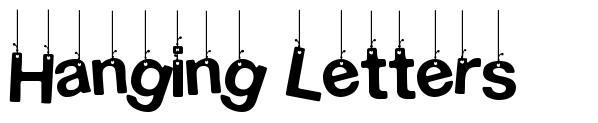 Hanging Letters font