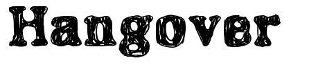 Hangover font